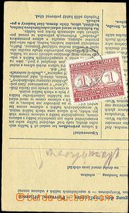 23688 - 1942 parcel dispatch card segment sent Ex, on reverse stamp.