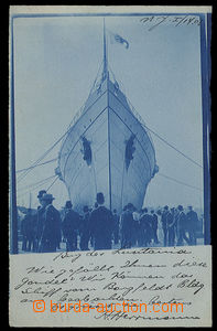 23758 - 1908 námořní loď Lusitania před spuštěním na vodu, f