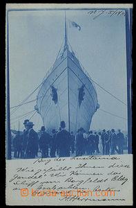 23758 - 1908 marine ship Lusitania before/(in front of) spuštěním