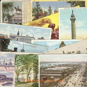 23759 - 1901 - 12 USA  sestava 11ks pohlednic, doky v New Yorku, Bí