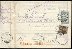 23788 - 1919 whole telegraph order, franked with. Hungarian. stamps