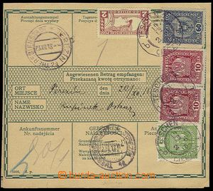 23793 - 1918 2 pcs of larger part/-s post. dispatch-notes, richly fr