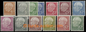 23809 - 1954 comp. 13 pcs of postage stmp Heuss, Mi.178, 182-193. ca