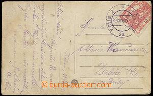 23828 - 1918 luxusní otisk DR Kolín 29.XII.18 (neděle!), pohledni