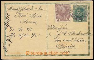 23844 - 1918 CPŘ3 Karel, dofr. nepl. rak. známkou 3h, Mi.141, neza