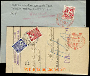 23863 - 1941 red CDS V Hradec Králové and Tábor on/for official corr