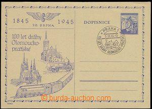 23874 - 1945 additional printing 100 years Olomouc Region - Prague r