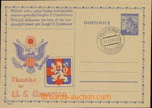 23877 - 1945 přítisk návštěva Eisenhowera v Praze, Trojan 1945/