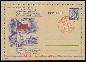 23878 - 1945 přítisk 28. říjen, Trojan 1945/11, pamětní raz.,