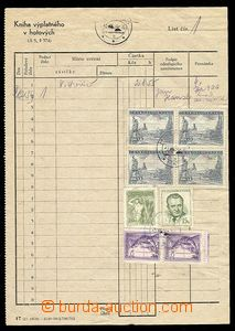 23885 - 1954 blank form Book postage in/at hotových size A5 (IV-195