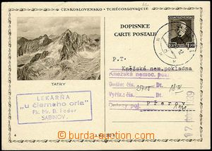 23894 - 1939 čs. mezinárodní dopisnice CDV67/4 jako předběžná