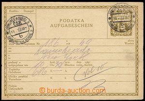 23900 - 1922 CPL2Ba, used mailing card, CDS Jablonec n./N. 10.I.1922