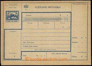 23907 - 1920 CDP3A, C.O.D. dispatch-note, Czech text, dusky margins.