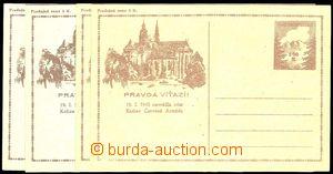 23914 - 1945 CDV73Pa 2ks + CDV73 2ks,  z toho 1x prošlá s DR Praha
