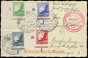 23937 - 1938 Graf Zeppelin fahrt Sudetenland, červený kašet, lete