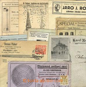 23949 - 1923 - 30 9ks firemních reklamních obálek nebo lístků,