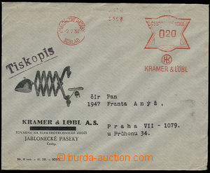 23954 - 1930 - 38 2 pcs of envelopes with advertising added print an