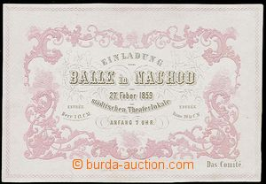 23965 - 1859 Ball invitation-card Náchod, German text, 2 color lith