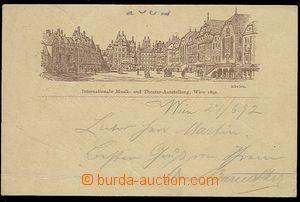 23976 - 1892 WIEN - additional printing on postcard 2 Kreuzer issue