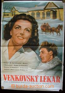 24038 - 1950 film poster on/for Russian film Venkovský doctor, color