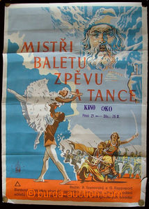 24040 - 1950 film poster on/for Russian film Champions baletu, zpěv