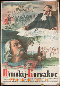 24041 - 1950 film poster on/for Russian film Rimskij Korsakov, color