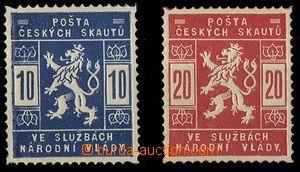 24045 - 1918 skautské Pof.SK1, 2, svěží, 1x zk. Gi.