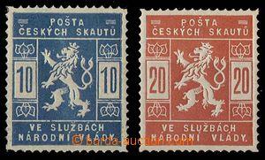24047 - 1918 skautské Pof.SK1a, 2a, světlé barvy, obě zk. Gi.
