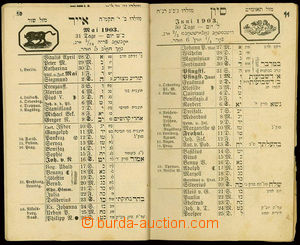 24048 - 1902 illustrated Jewish calendar, issue Prague 1902 in Germa