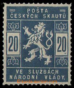 24049 - 1918 Pof.SK2 zkouška tisku, modrá barva, svěží, zk. Gi.