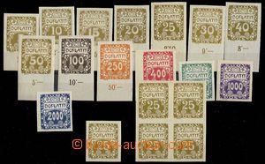 24140 - 1919 kompl. série doplatních zn. Pof.DL1-14, do č.11 s po