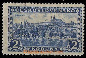 24154 - 1926 Prague  2CZK, Pof.225x, parchment paper, wmk 7, hinged,