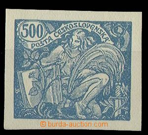 24201 -  Pof.168ZT, trial print in blue color, from 100 kusového sh