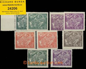 24206 -  Pof.164-169A, stamps 164-165 in two shades, mint never hing