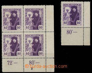 24216 -  Pof.162, 4-blok s DZ 2, nálepka (isolepa), 1x rohová z 3.