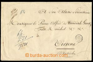 24222 - 1862 WINDISCHGRÄTZ Alfred, cash franked letter on/for noble