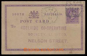 24227 - 1887 dopisnice se zn. 1penny fialová - South Australia, DR