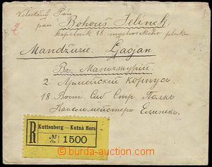24244 - 1905 Reg letter addressed to to Manchuria to member of 18. m