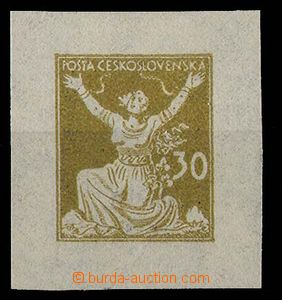 24247 - 1920 zkouška tisku OR v okrové barvě ze soutisku, s jedno