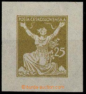24248 - 1920 zkouška tisku OR v okrové barvě ze soutisku, s jedno