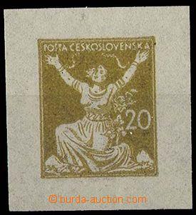24249 - 1920 zkouška tisku OR v okrové barvě ze soutisku, s jedno