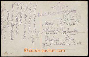 24255 - 1915 KuK Lokomotivfeldbahn, řádkové raz. se znakem + FP 1