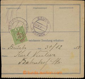24263 - 1918 cash paid dispatch-note with CDS Teplitz-Schönau 28.XII