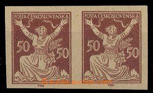 24268 - 1920 dvoupáska OR 50h v hnědé barvě na nahnědlém papí
