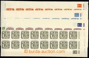 24287 - 1945 Newspaper stamps  comp. 9 pcs of  bottom 16 bands with