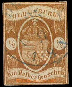 24317 - 1861 Mi.11a, těsný střih, kat. 650€