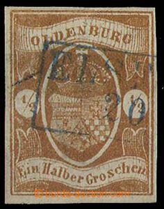 24319 - 1861 Mi.11b, velmi pěkné střihy i razítko, luxusní. Kat