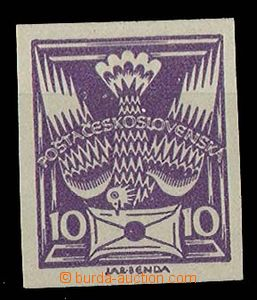 24321 - 1920 palte proof of the value 10h in violet color, white pap