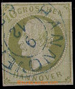 24323 - 1861 Mi.18, luxusní, celé modré razítko, kat. 1100€