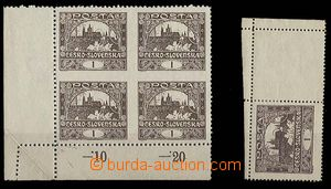 24332 -  1h in/at corner block of four with line perforation 11¾